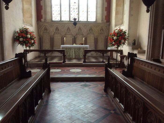 View of the chancel of St. Withburgh's Church in Holkham, Norfolk (kindly provided by the Holkham parish)