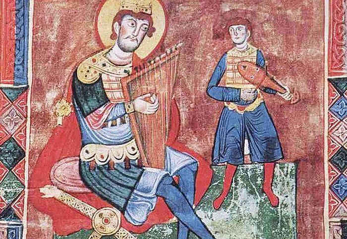 Святой царь Давид. Книжная миниатюра