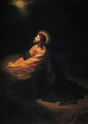 Christ in Gethsemane, Heinrich Hofmann, 1886. Photo: Wikipedia