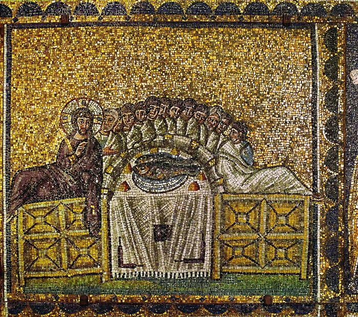 Mosaic at the Basilica of Sant' Apollinare Nuovo. Ravenna, 6th C.