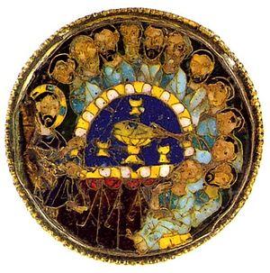 Эмалевый медальон дискоса. Константинополь. 9-10 вв