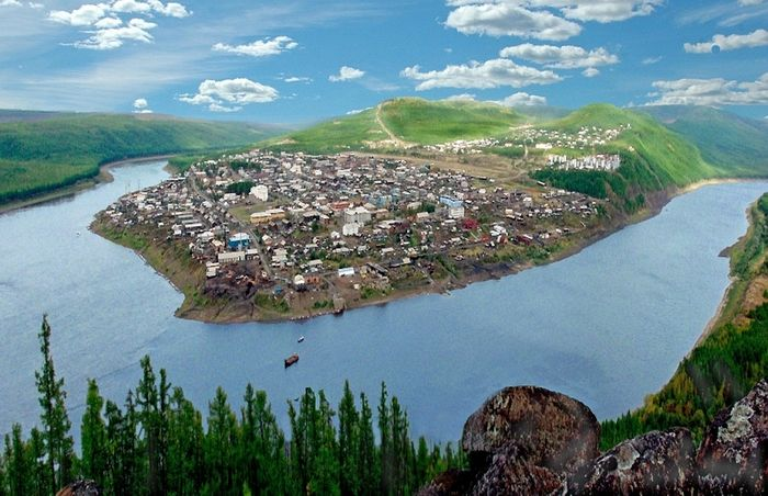 Tura, the administrative center of the Evenkia District. Photo: yandex.ru