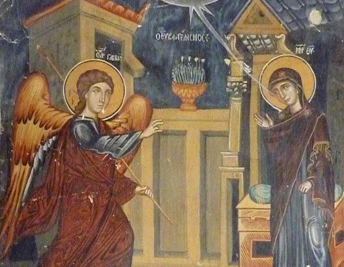 Annunciation fresco, Cyprus