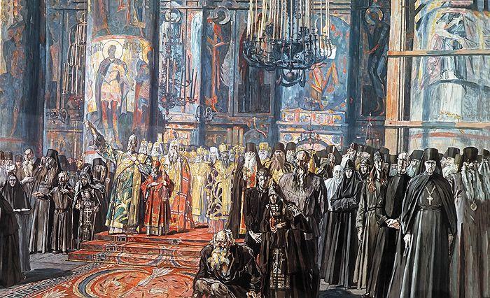 Павел Корин. Эскиз «Реквием» к картине «Русь уходящая», 1935-1959 гг.