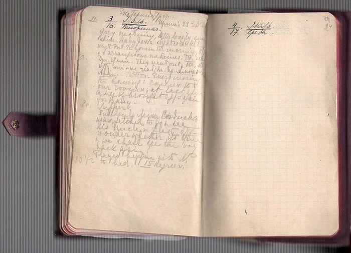 Последняя запись в дневнике Императрицы Александры Федоровны