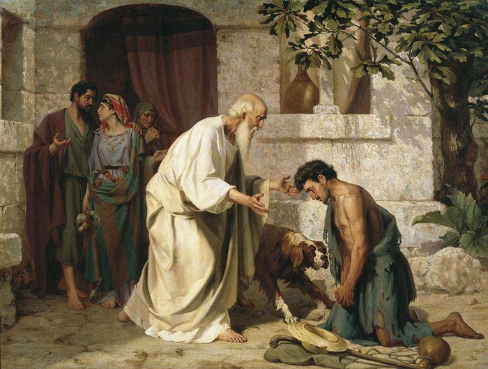Притча о блудном сыне. Автор: Н. Лосев, 1882.