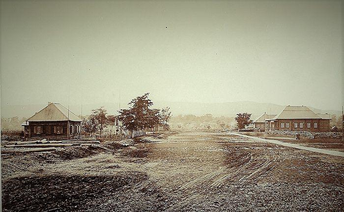 Вид Большой улицы села Рыковское