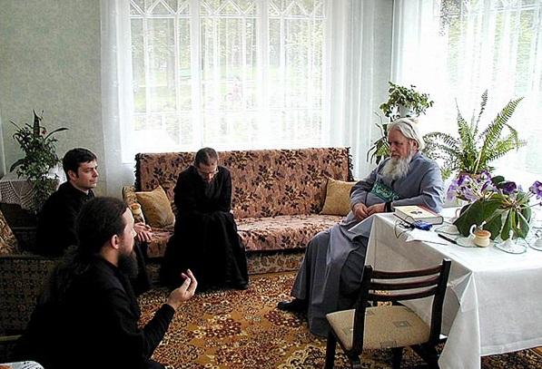 Metropolitan Cornelius with brothers of Sretensky Monastery