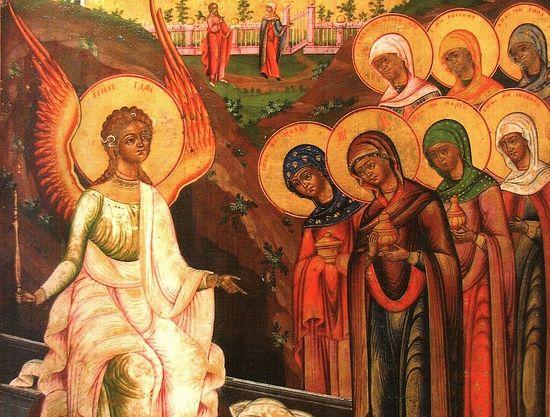 Жены-мироносицы у Гроба Христова