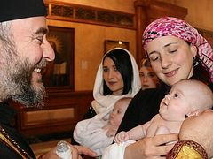 Another 1,000 children baptized by Patriarch Ilia of Georgia