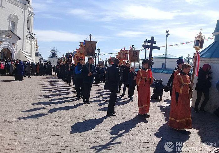 Крестный ход в честь открытия музея семьи Николая II в Тобольске. Фото: РИА Новости / Ольга Ерачина