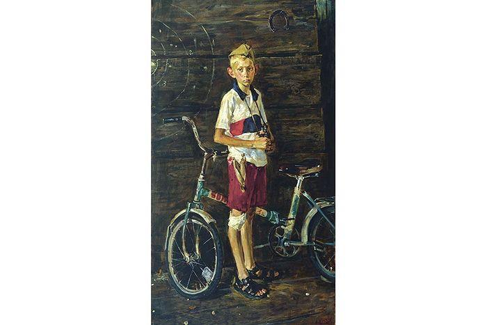 Ю. Дроздов. Мальчик с велосипедом. 2005 г