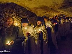 Funeral for Archimandrite Adrian (Kirsanov) served at Pskov Caves Monastery