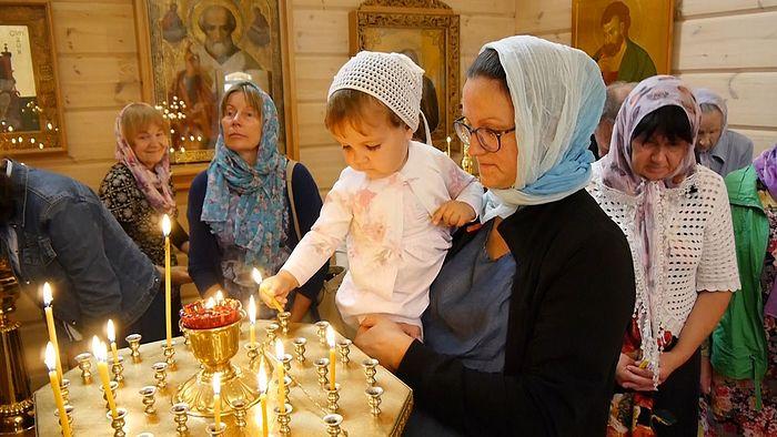 В храме прп. Сергия Радонежского в Палдиски