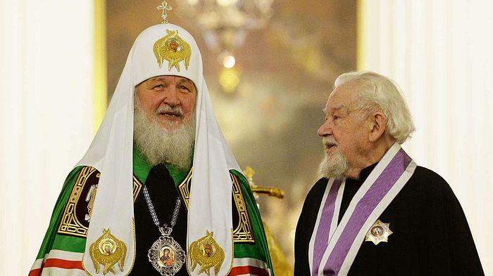 Одна из последних официальных фотографий отца Андрея Мазура (справа). Фото: patriarchia.ru