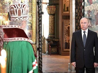 Патриарх Кирилл совершил благодарственный молебен по случаю вступления в должность Президента России Владимира Путина / Православие.Ru