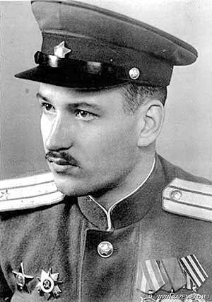 Майор Александр Васильевич Пыльцын, командир роты автоматчиков 8-го ОШБ. 1945 г.