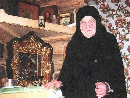 Schemanun Sepphora, lived her last years in the Monastery of the Icon Not-Made-By-Hands in the village of Klykovo and is buried there
