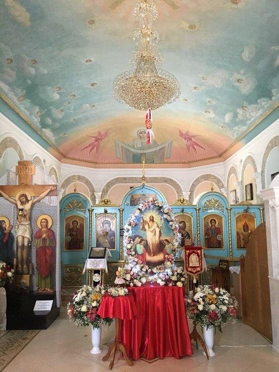В храме Топловского монастыря