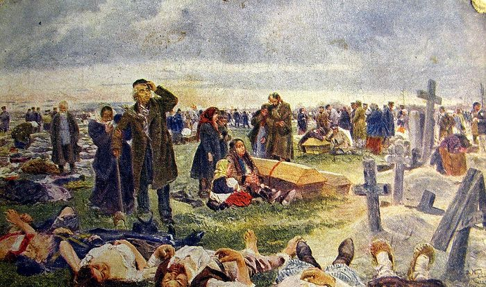 At Vagankovo Cemetery. The burial of the Khodynka victims. 1896-1901