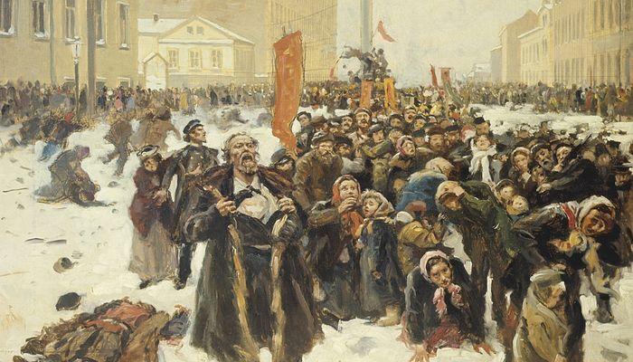 Владимир Маковский. 9 января 1905 г. на Васильевском острове