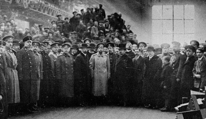 Государь Николай II на Путиловском заводе