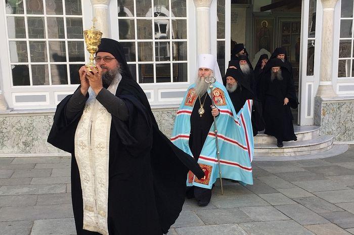 Чин о Панагии в Пантелеимоновом монастыре