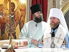 Metropolitan Tikhon (Shevkunov) celebrates farewell Liturgy at Sretensky Monastery