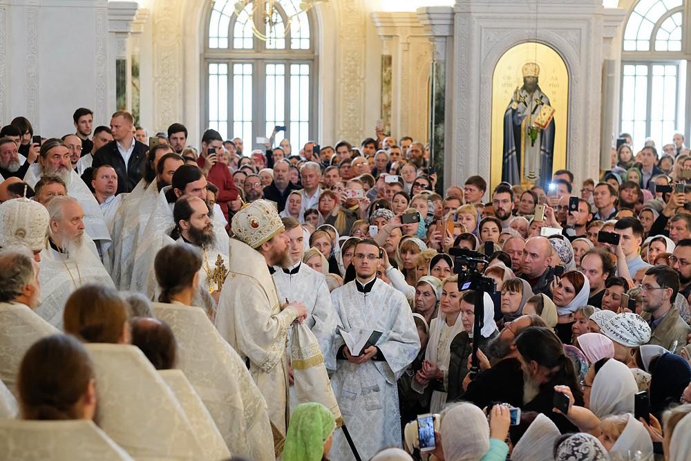 Слово митрополита Тихона к братии, прихожанам и студентам