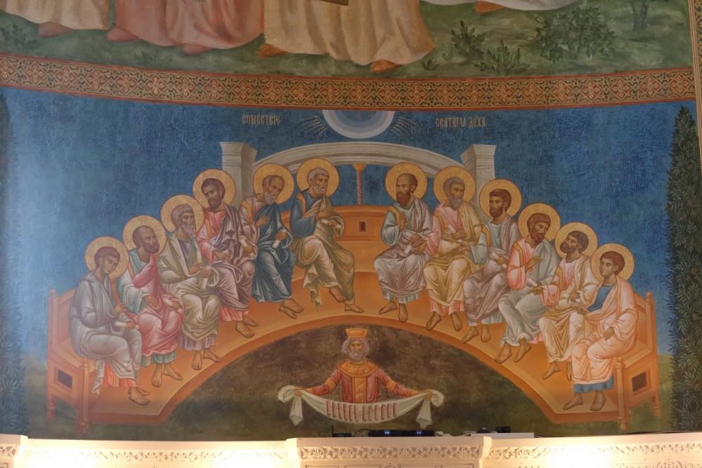 Пятидесятница. Фреска в алтаре нового собора Сретенского монастыря