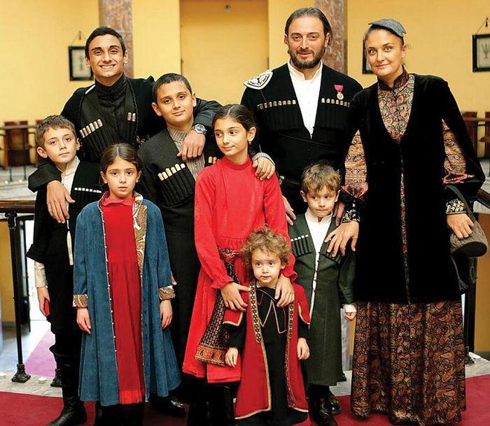 Леван Васадзе с семьей