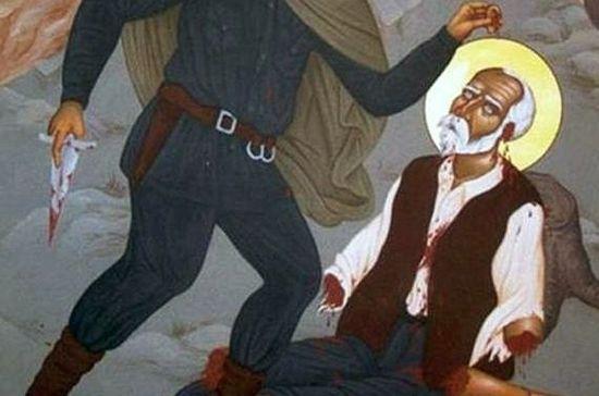 Казнь мученика. Современная сербская икона. Фрагмент. Фото: vk.com