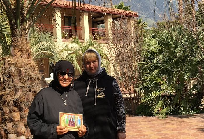 With Abbess Markella of the Convent of the Life-giving Spring.