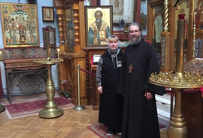 With Archpriest Peter Perekrestov.