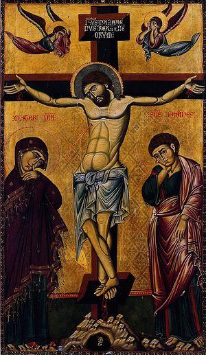 Распятие. Византийская икона XIII в. Монастырь св. Екатерины, Синай