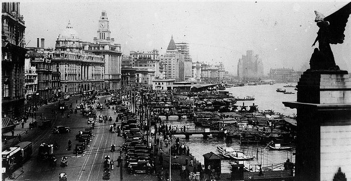 The central business district of old Shanghai.