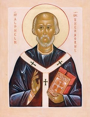An Orthodox icon of St. Aldhelm of Sherborne