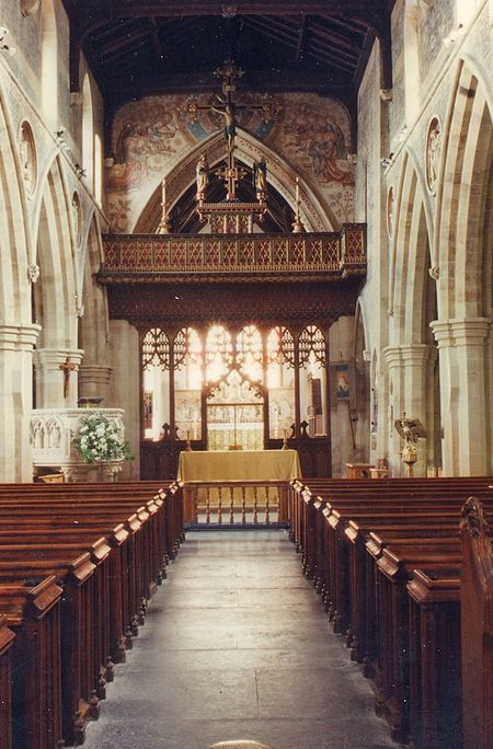Inside St. John the Baptist's Church in Frome, Somerset (photo from Wikipedia)