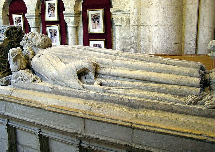 King Athelstan's tomb at Malmesbury Abbey, Wilts (author - Arpingstone)