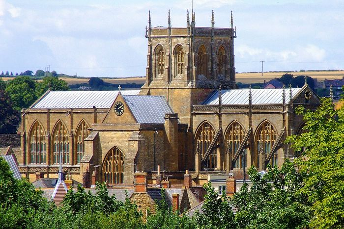 Sherborne Abbey exterior, Dorset (kindly provided by the Rector of Sherborne Abbey)