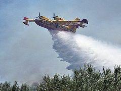 Fire broke out on Mt. Athos near Hilandar Monastery