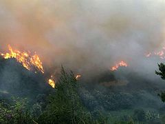 Fire breaks out near Hilandar Monastery on Mt. Athos for second day in a row