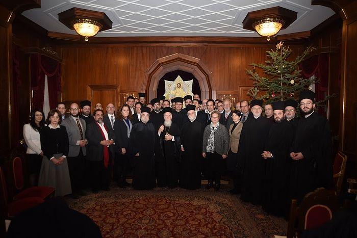 Патриарх Варфоломей и группа православных богословов (январь 2016 г., Стамбул)