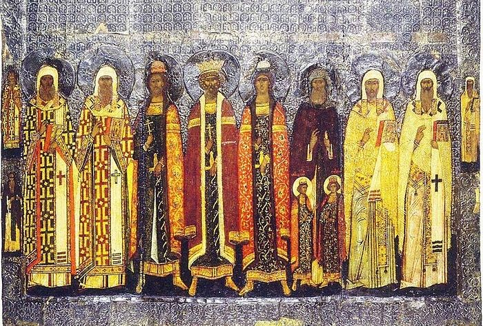 Icon of selected Russian saints, 1580. Wikimedia.