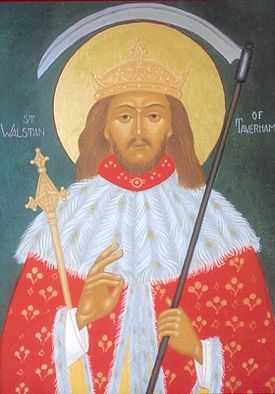 An Orthodox icon of St. Walstan of Bawburgh