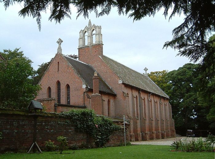 Rear of the Our Lady and St. Walstan's RC Church in Costessey, Norfolk (provided by the rector of RC church in Costessey)