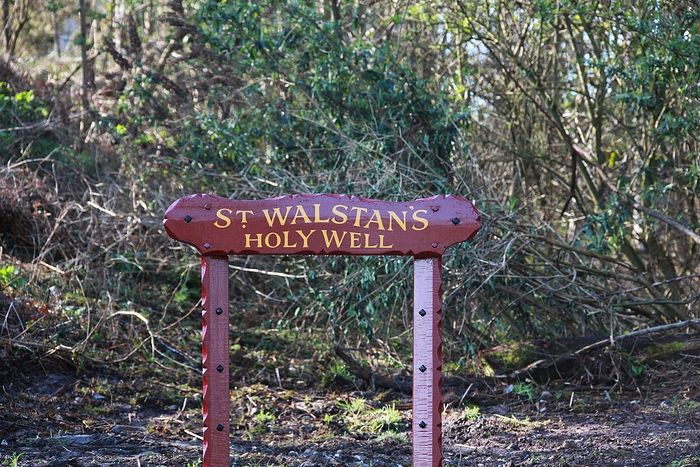 St. Walstan's holy well in Costessey, Norfolk (photo provided by the RC church rector of Costessey)