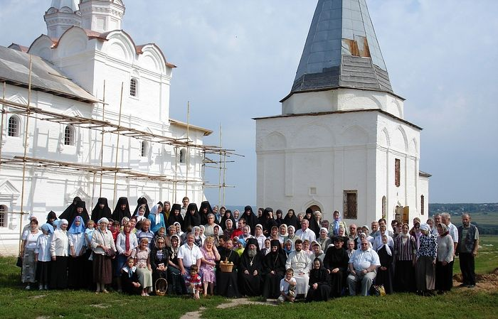 The sisters with parishioners and their wards