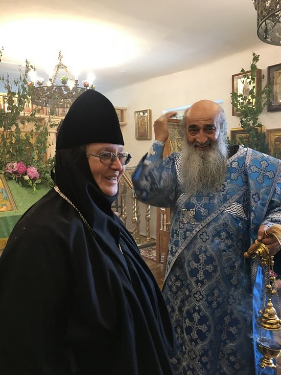 ​The abbess and Fr. Iliodor