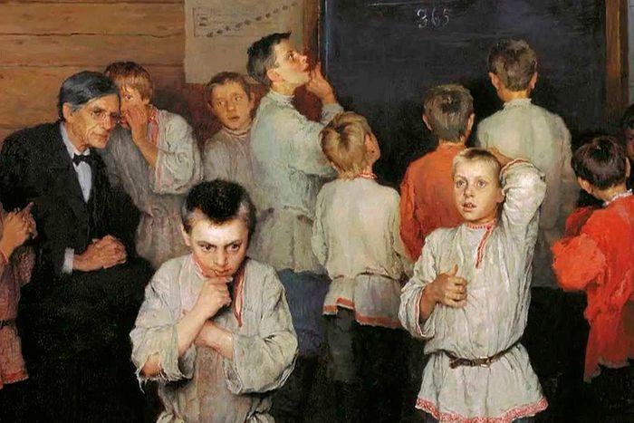 Николай Богданов-Бельский Устный счет в школе Рачинского